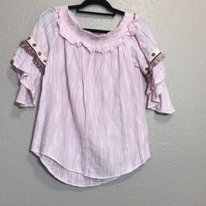Monoreno 3/4 Sleeve Off the Shoulder Boho fringe